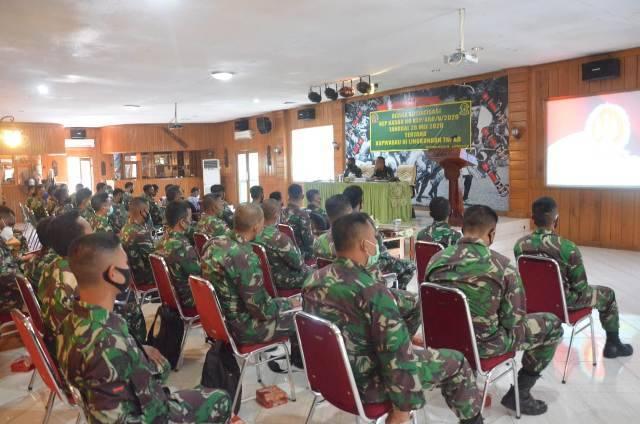 Korem 174/ATW Merauke Sosialisasi Pemantapan Teknis Penyusunan Kelengkapan Wabku