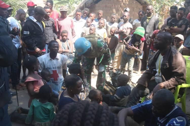Prajurit Satgas TNI Berhasil Evakuasi Korban Penghadangan Bandit Bersenjata di Republik Kongo