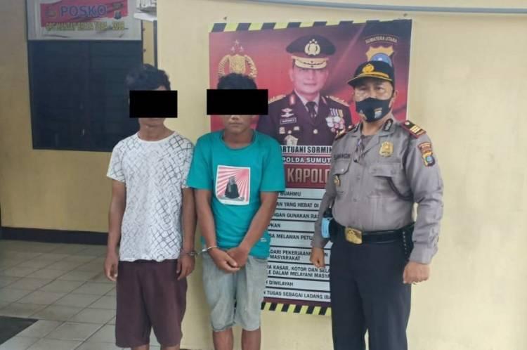 Aksi Jambretnya Gagal, Dua Pelaku Diamankan Tekab Polsek Tanjung Morawa