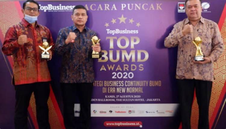 Gubernur Edy Rahmayadi dan Bank Sumut Raih Penghargaan TOP BUMD Awards 2020