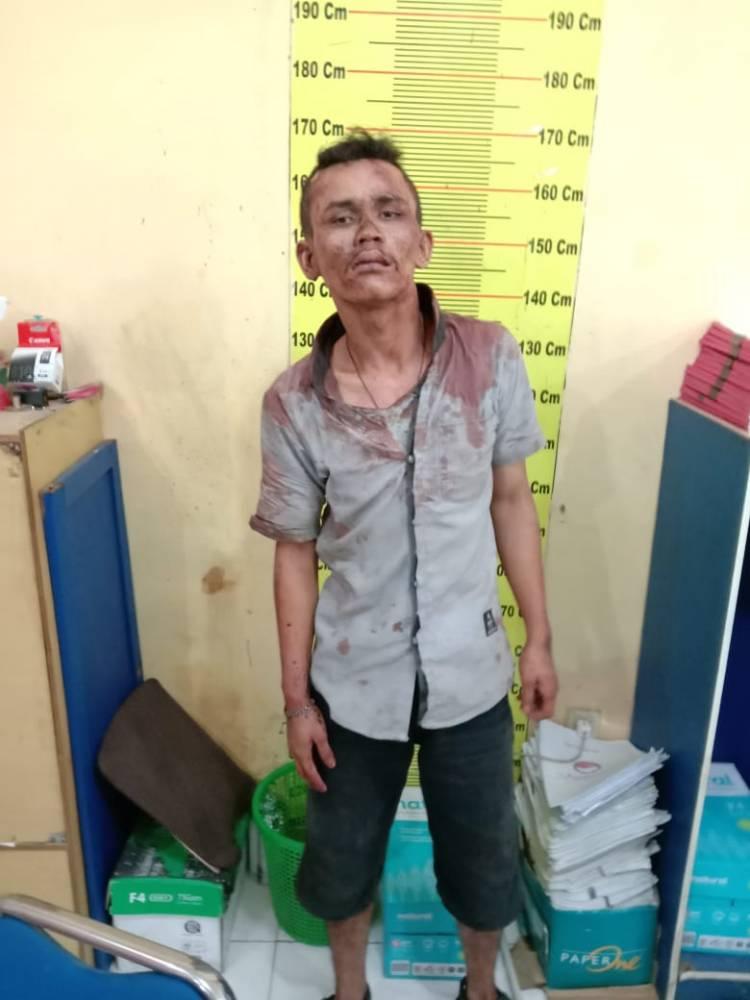 Polsek Deli Tua Tangkap Seorang Komplotan Jambret  Diamuk Massa di Jalan Karya Wisata