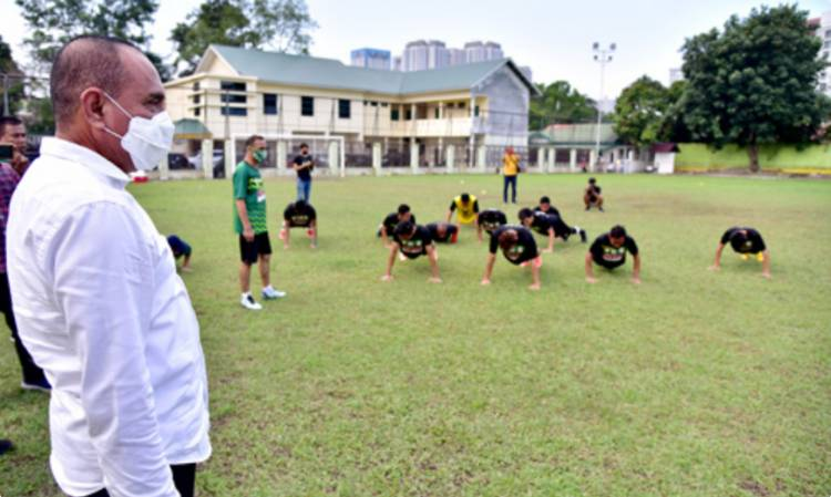 Liga 2 Dimulai Oktober Mendatang, Gubsu Edy Rahmayadi Motivasi Pemain PSMS Lolos Liga 1 Tahun 2021