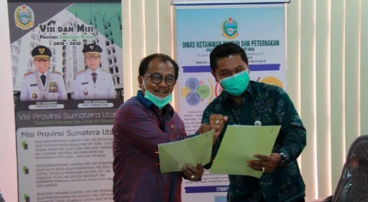 Dinas Peternakan dan KPPU Tandatangani MoU Satgas Kemitraan Sektor Peternakan Provinsi Sumut