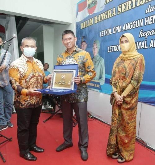 Kasat Pol PP Kota Medan Hadiri Malam Lepas Sambut Dandenpom 1/5 BB