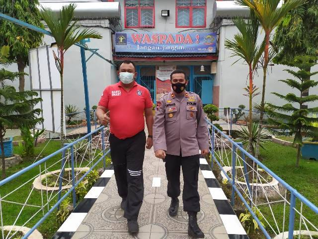 Coffee Morning, Kapolsek Medan Helvetia Koordinasi dengan Kepala Rutan Kelas 1 A Medan