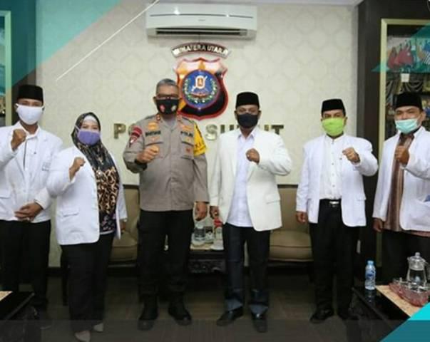 Kapolda Sumut Martuani Sormin Terima Audiensi Badan Koordinasi Muballigh Indonesia Sumut