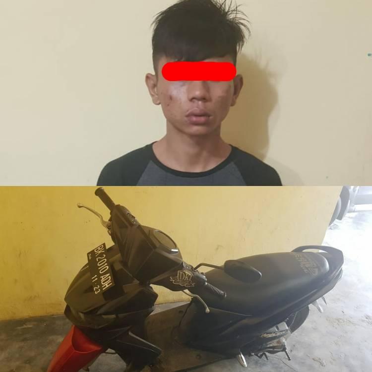Hendak Curi Sepeda Motor di Teras Rumah, Pelaku Ditangkap Polsek Namorambe