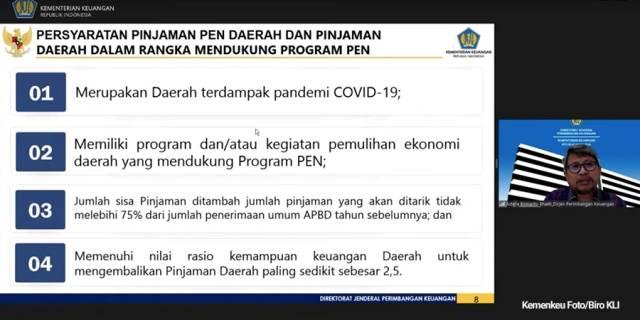 Dirjen PK Prima Astera Berikan 4 Syarat Pinjaman PEN untuk Pemerintah Daerah