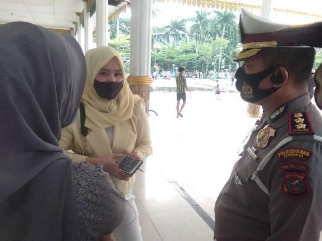 Tim Gabungan Satlantas Polrestabes Medan Razia Masker, Titik Pusat di Lapangan Merdeka