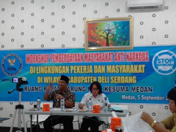 BNNK Deli Serdang Gelar Workshop Anti Narkoba