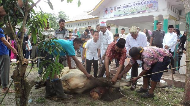 Pemkab Asahan Sembelih 107 Ekor Hewan Kurban