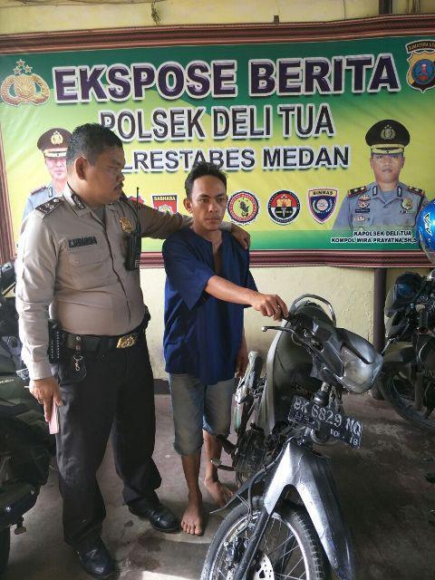 Curi Tas di Toko Baju Balqis Collection Jalan STM Ujung, Lubis Diamankan Polisi