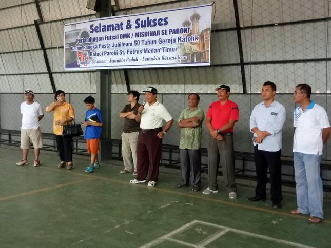 Pertandingan Futsal Menyongsong Pesta Jubileum 50 Tahun Gereja Katolik St Rafael