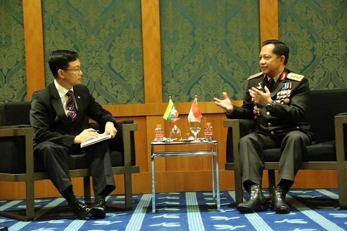 Kapolri Tawarkan Polisi Myanmar Kerjasama Pelatihan Atasi Konflik Tanpa Melanggar HAM