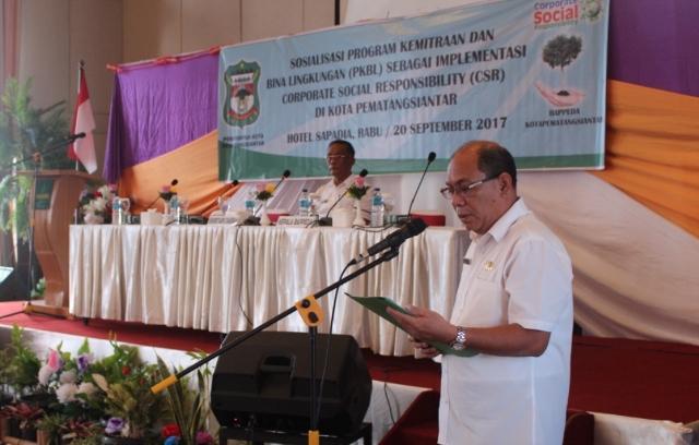 Bappeda Pematangsiantar Sosialisasikan Implementasi CSR PKBL