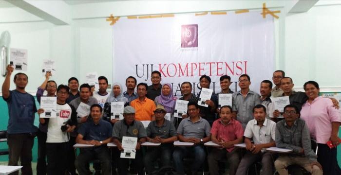AJI Sukses Gelar Uji Kompetensi Jurnalis di Medan