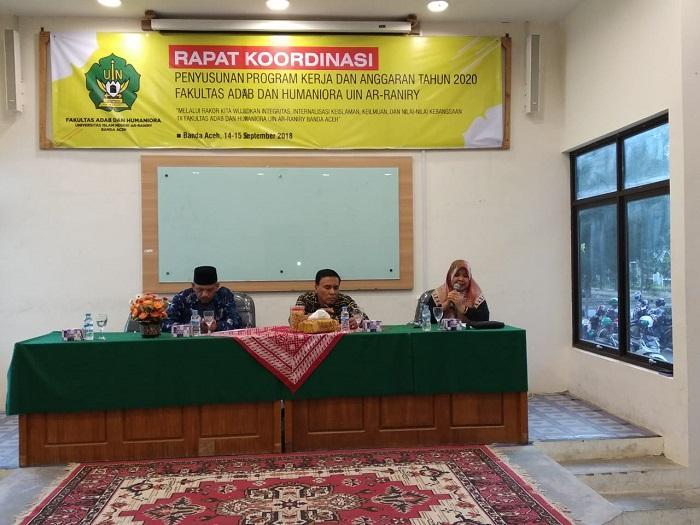 FAH UIN Ar-Raniry Gelar Rakor Program Kerja dan Anggaran 2020