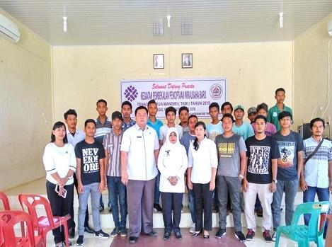 Dinas Naker Kabupaten Tapteng Laksanakan Pembekalan Penciptaan Wirausaha Baru TKM Tahun 2018