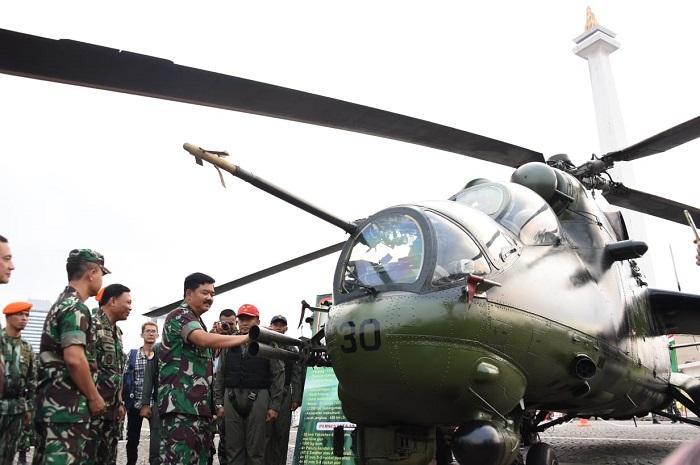 Panglima TNI Buka Pameran Alutsista TNI 2018 di Monas