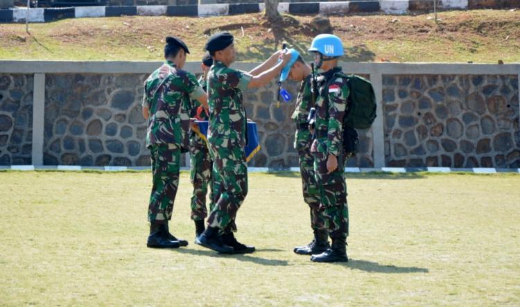 Komandan PMPP TNI Buka Latihan Pratugas Satgas Kizi TNI Konga XX-P/Monusco