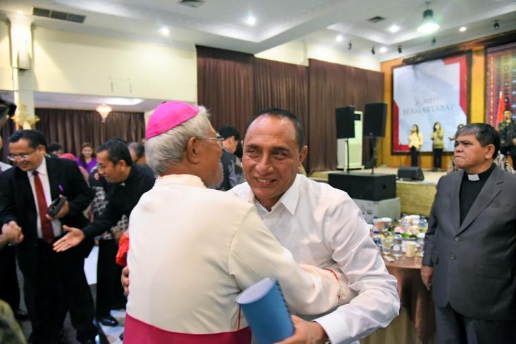 Gubernur Edy Harapkan Pemuka Agama Kristen Ikut Jaga Kerukunan di Sumut