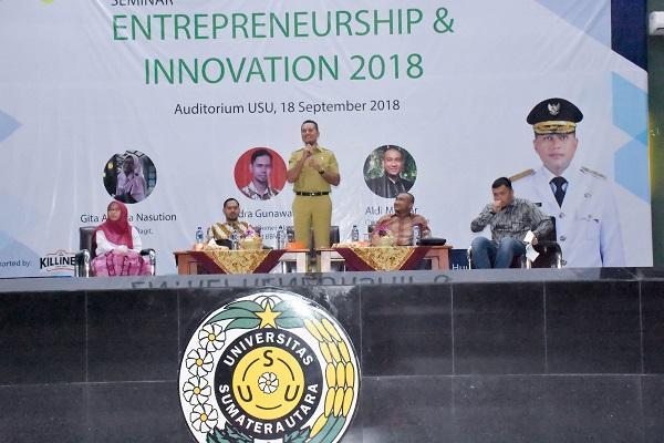 Ke USU, Wagub Musa Rajekshah: Pemuda Harus Berani Jadi Entrepreneur dan Pemimpin