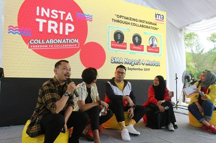 IM3 Ooredoo InstaTrip ke SMAN 4 Medan, Ajak Content Creator dan Anak Muda Berkolaborasi di Instagram