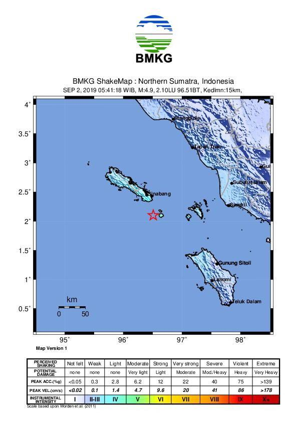 Pantai Barat Sumatera Diguncang Gempa Bumi 5 SR