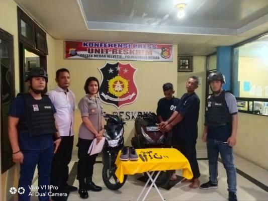 Dua Komplotan Curanmor di Mess Polwan Jalan Amal Luhur Ditangkap Polsek Helvetia