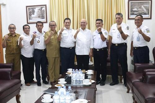 Walikota Medan Terima Audiensi PT KAI Divre I Sumut