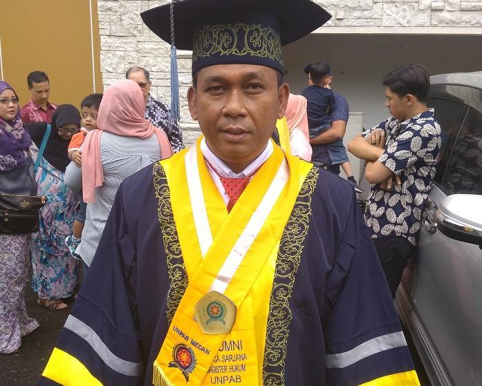 Iptu Irwanta Sembiring Tamatkan Pendidikan Magister Hukum di Universitas Panca Budi Medan
