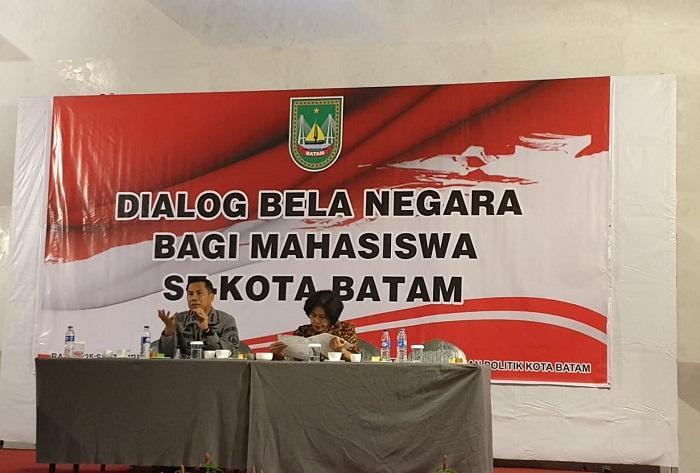 Bakamla RI Dukung Dialog Bela Negara Bersama Mahasiswa di Batam