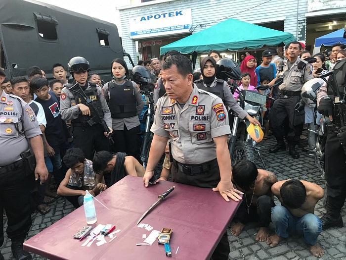 Sat Sabhara Polrestabes Medan GKN ke 5 Lokasi di Kota Medan