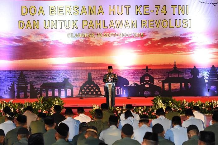 Mabes TNI Gelar Doa Bersama HUT ke-74 TNI untuk Pahlawan Revolusi
