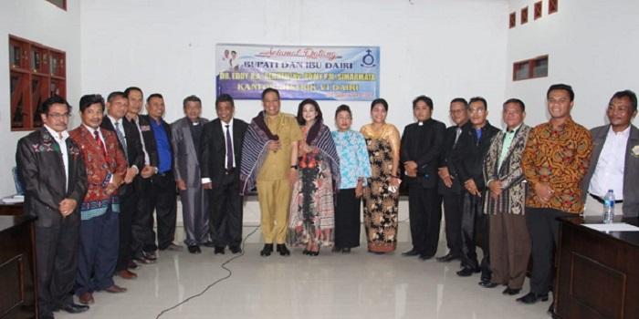 Kunker ke HKBP Distrik VI, Bupati Paparkan Program Pembangunan Kabupaten Dairi