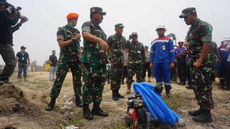 Panglima TNI: Pantau Titik Api Karhutla Riau, TNI Gunakan Drone di Malam Hari