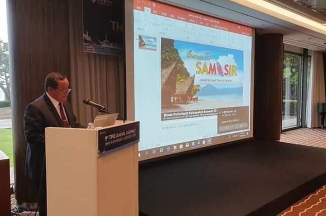 Di Korea Selatan, Bupati Samosir Promosikan Wisata di Hadapan Anggota TPO se-Asia Pasifik