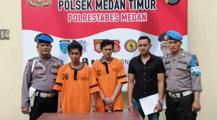 Dua Pengedar Sabu Dibekuk Polisi di Jalan Enam Medan Timur