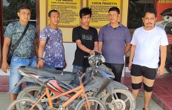 Curi Sepeda Motor Milik Putri, Juanda Ritonga Ditangkap Unit Reskrim Polsek Panai Tengah