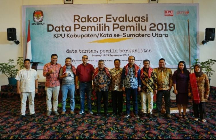 KPU Sumut Gelar Rakor Evaluasi Data Pemilih Pemilu 2019