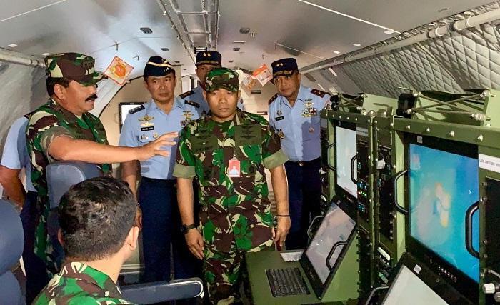Upaya Pemadaman Karhutla di Kalteng, Panglima TNI Tinjau Kesiapan Alutsista