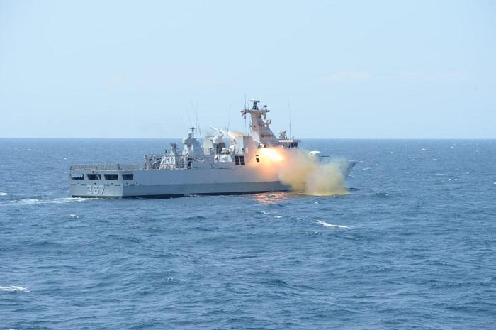 Kogaslagab TNI Tembak Musuh dengan Peluru Kendali Exocet MM 40 Block-3