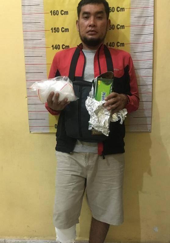 Polres Serdang Bedagai Tembak Pemuda Bawa 500 Gram Sabu