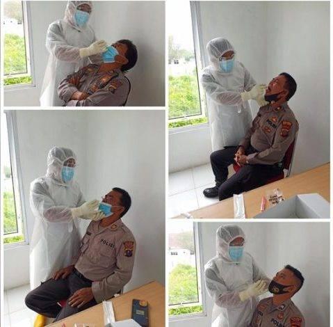 75 Personel Polres Simalungun Jalani Swab Test, Deteksi Dini Penyebaran Covid-19