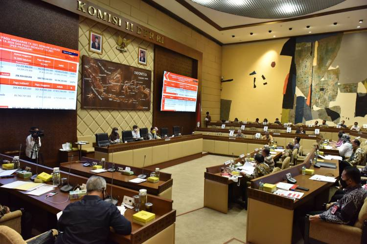 Komisi II DPR Setujui Pagu Anggaran Tahun 2021 Sekretariat Kabinet