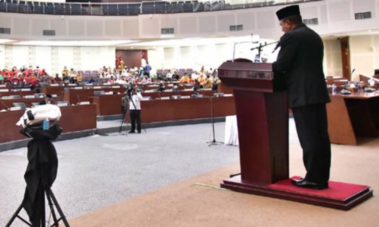 Rapat Paripurna DPRD Sumut, Gubernur Sampaikan Nota Keuangan dan Rancangan P-APBD 2020