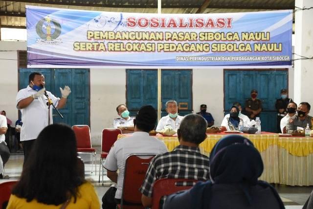 Walikota Sibolga Sosialisasi Pembangunan dan Relokasi Pedagang Pasar Sibolga Nauli