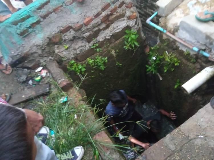 Hanyut di Parit, Seorang Anak Laki-Laki Belum Ditemukan