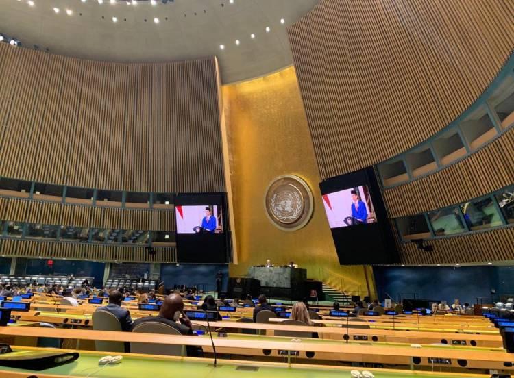 Presiden Ajak Seluruh Negara Bersatu Hadapi Pandemi Covid-19 di Sidang Umum PBB