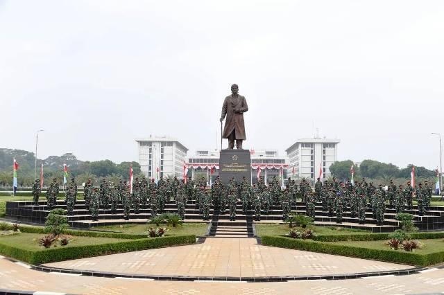 Panglima TNI Terima Laporan Korps Kenaikan Pangkat 91 Perwira Tinggi di Mabes TNI